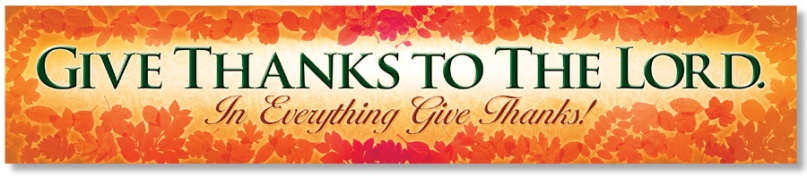in everything give thanks banner