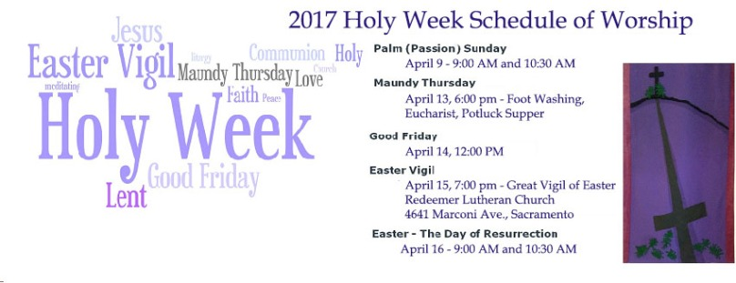 Holy Week - with schedule 2017
